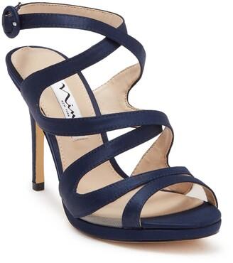 Nina Ranata Crossed Strappy Platform Sandal