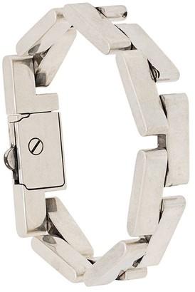 Saint Laurent Curb Chain Engraved Bracelet