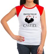 CafePress - Protected By Castiel - Women's Cap Sleeve T-Shirt