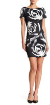 Alexia Admor Cap Sleeve Rose Scuba Dress