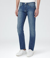 Reiss Reiss Champion - Mid-wash Slim-fit Jeans In Blue