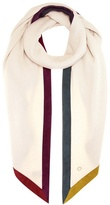 Loro Piana Oblique Duo Rainbow Suede-trimmed Cashmere Scarf