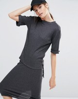 Daisy Street Lightweight Knitted T-Shirt Co-Ord