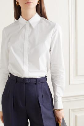 Gabriela Hearst Net Sustain Cruz Cotton-poplin Shirt - White