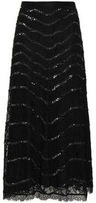 Temperley London Embellished Lace Midi Skirt