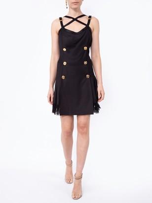 Versace Bondage Accent Dress