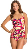 Seafolly Kabuki Bloom Halter One Piece Swimsuit 8122547