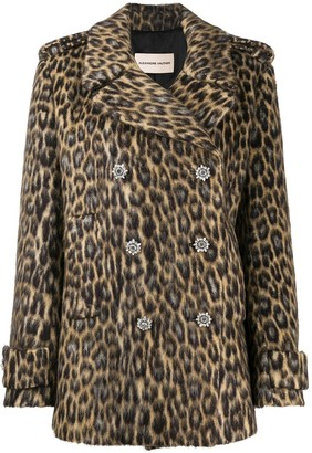 Alexandre Vauthier Leopard Print Double-Breasted Coat