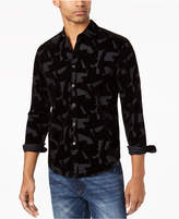 Sean John Men's Felted Party Shirt, Created for Macy's
