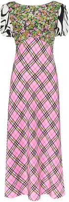 Rixo Winnie panelled midi dress