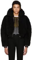 Acne Studios Black Linne Coat