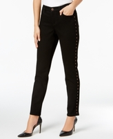 Style&Co. Style & Co Style & Co Petite Button-Trim Skinny Jeans, Created for Macy's
