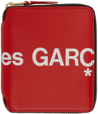 Comme des Garçons Wallets Red Huge Logo Zip Around Wallet