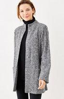 J. Jill Pure Jill Textured Marled Coat
