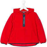 Tommy Hilfiger Junior - zipped neck hooded coat - kids - Polyamide/Polyester - 5 yrs