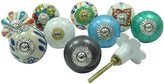 Ibacrafts Lot Of 10 Pcs Ceramic Knobs Hand Painted Kids Dresser Decorative Drawer Pull