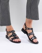 Sol Sana Gunther Black Studded Sandals