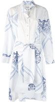 Loewe printed wrapped shirt dress - women - Cotton - 38