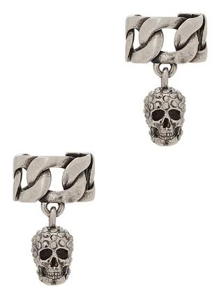Alexander McQueen Skull-embellished Silver-tone Ear Cuff
