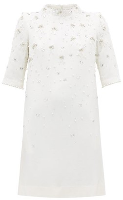 Goat Alexa Crystal-embellished Wool Dress - Womens - White