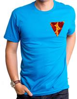 Goodie Two Sleeves Blue Pepperoni Pizza Pocket Tee - Men's Regular