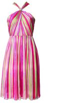 Matthew Williamson Painted Stripe Gathered Midi Dress