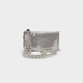 Kara Chain Mail Lanyard In Silver Fabric