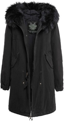 Mr & Mrs Italy Fw20 Icon Parka: Black Jazzy Parka Raccoon Fur