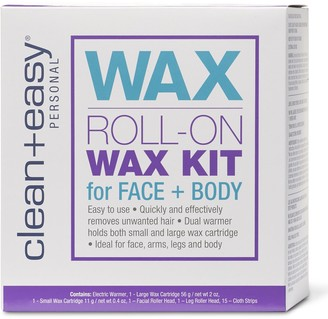 Clean + Easy Face & Body Roll On Wax Kit