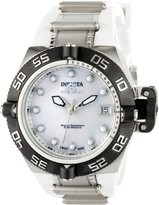 Invicta Women's 0538 Subaqua Noma IV Collection Stainless Steel and White Polyurethane Watch
