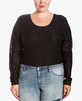 Eyeshadow Trendy Plus Size Lace Bodysuit