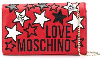 Love Moschino Star Patch Logo Shoulder Bag
