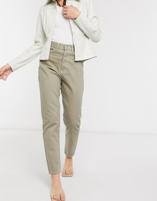 Dr. Denim Nora high rise mom jeans in stone wash