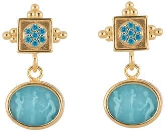 Tagliamonte 18K-Plated Venetian Cameo Gemstone Earrings