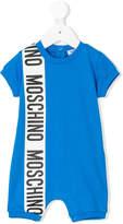 Moschino Kids logo print onesie