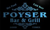 AdvPro Name u35798-b POYSER Family Name Bar & Grill Home Brew Beer Neon Sign