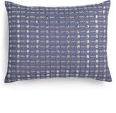 "Calvin Klein Metallic Stitched 12"" x 16"" Decorative Pillow"