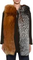 Piazza Sempione Mixed Fox Fur Vest