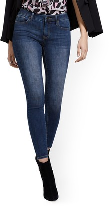 New York & Co. Petite Lexi Mid-Rise Super-Skinny Ankle Jeans - Blue Hustle