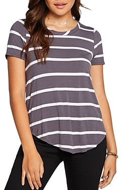 Chaser Striped Shirttail Tee