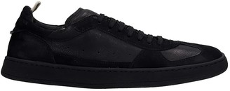 Officine Creative Kadett Sneakers In Black Suede And Leather