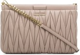 Miu Miu Matelasse leather clutch bag