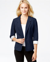 Kensie Long-Sleeve Faux-Pocket Blazer