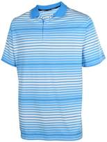 Nike Men's Dri-Fit Key Bold Heather Stripe Golf Polo Shirt-Blue-Small