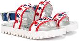 Simonetta studded sandals - kids - Goat Skin/Patent Leather/plastic/rubber - 27