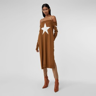 Burberry Star Motif Wool Reconstructed Sweater Dress