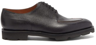 John Lobb Harlyn Pebbled-leather Derby Shoes - Black