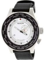 Nixon Men's Passport GMT Black Nylon Two-Tone Dial
