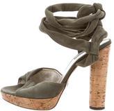 Dolce & Gabbana Suede Lace-Up Platform Sandals