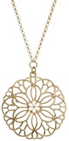 Lauren Conrad Openwork Flower Long Necklace